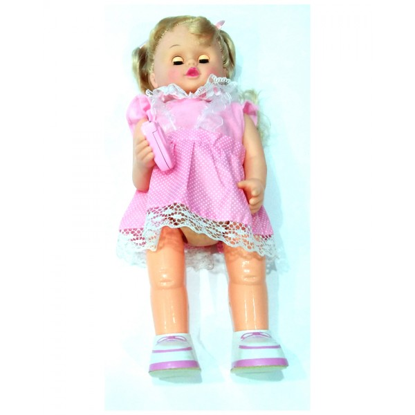 Lovely Girl Walking Doll with Cell Phone - FD-239