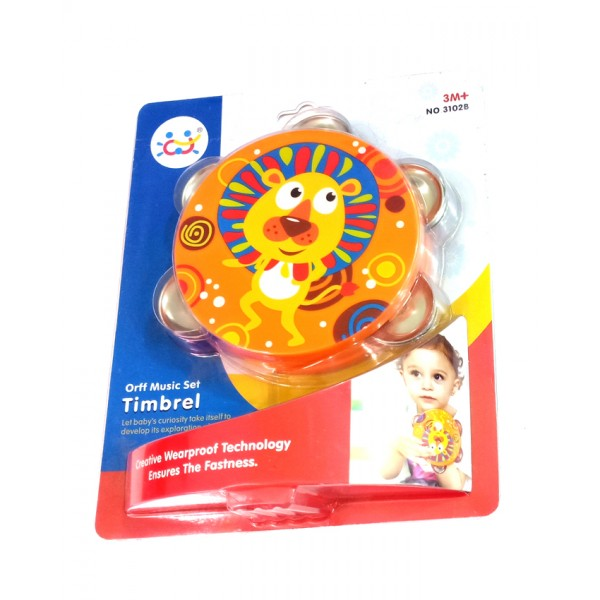 Timbrel Music Toy for Kids - Lion