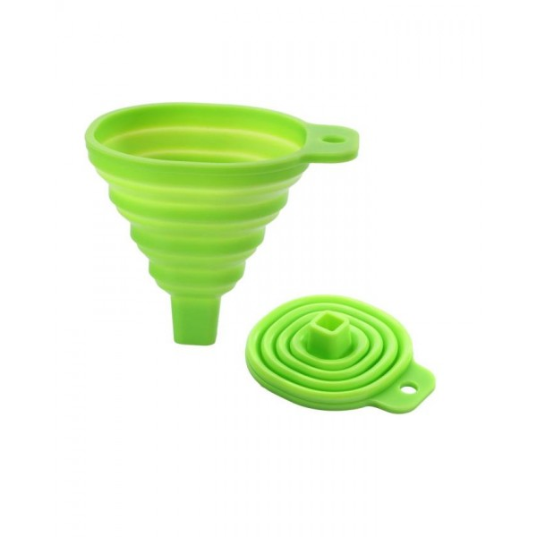 Silicone Foldable Funnel in Green Color