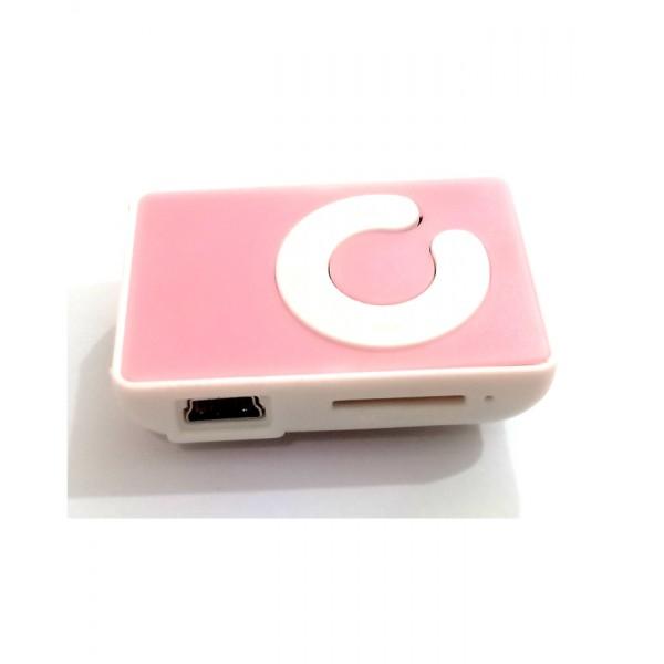 Mini MP3 Player - Plastic - Pink