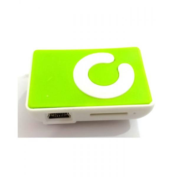 Mini MP3 Player - Plastic - Green