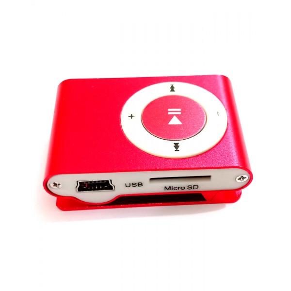 Mini MP3 Player - Metal - Red