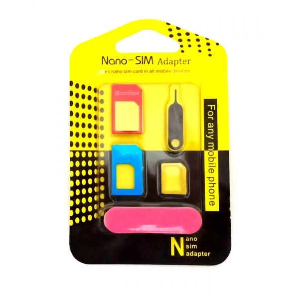 Nano Metal Sim Adapter 4 pcs Set