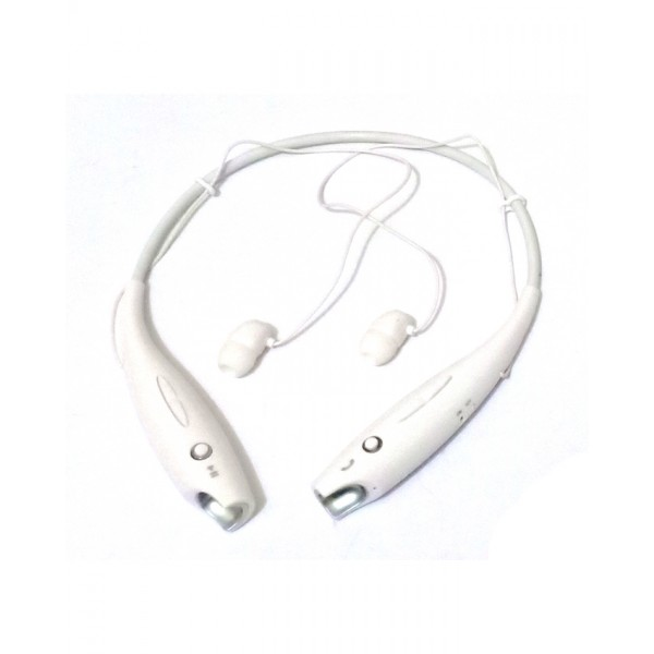 Wireless Bluetooth Neckband Earbud Headset - White