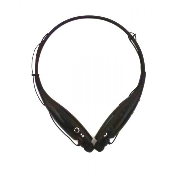 Wireless Bluetooth Neckband Earbud Headset - Black