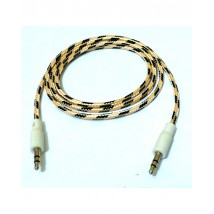 Audio Aux Cable 3.5 mm For Stereo Headphone and Car Speakers - White Pattern