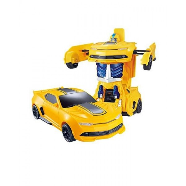 Bump and Go Transformable Robot Car - XC-855 - Yellow