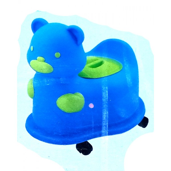 AB Baby Wheel Closestool - Bear Design Potty Seat for Kids in Blue Color