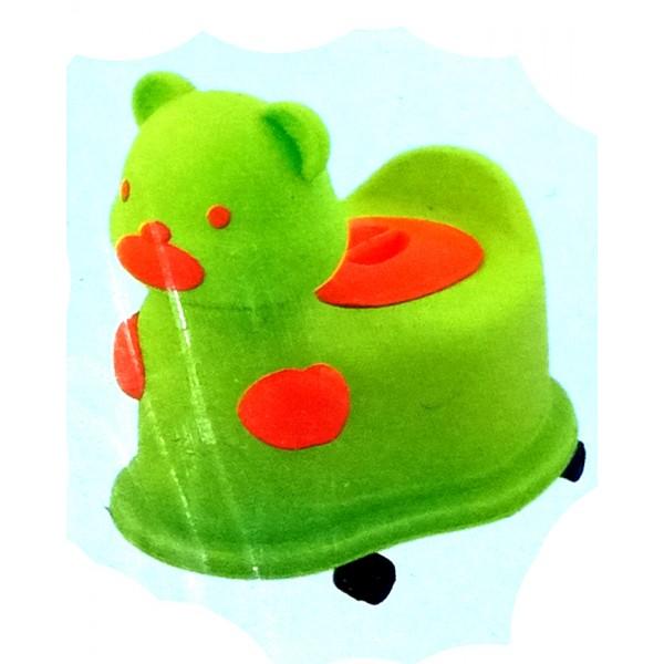 A+B Baby Wheel Closestool - Bear Design - 104A - Green