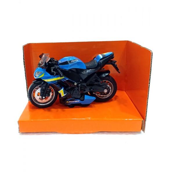 Die Cast Classical Moto Model - MY66-M1114 - Blue
