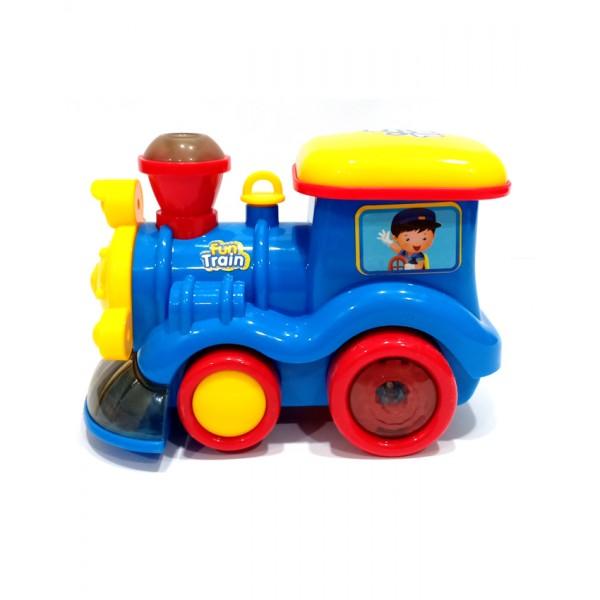 Fun Train with Smoke Action - ZR121 - Blue