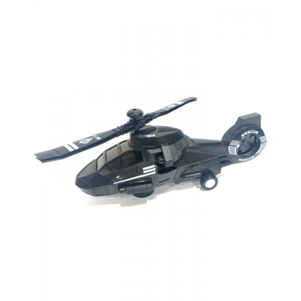 3D Lights Swat Helicopter - DYD168A-1 - Black