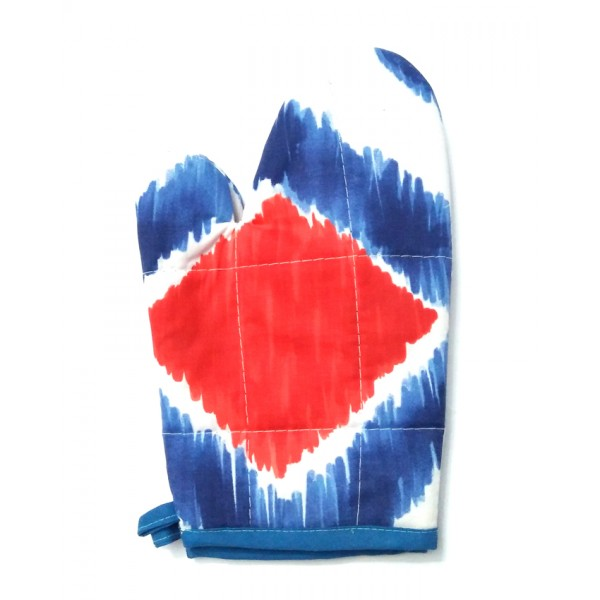 Oven Glove - Red & Blue
