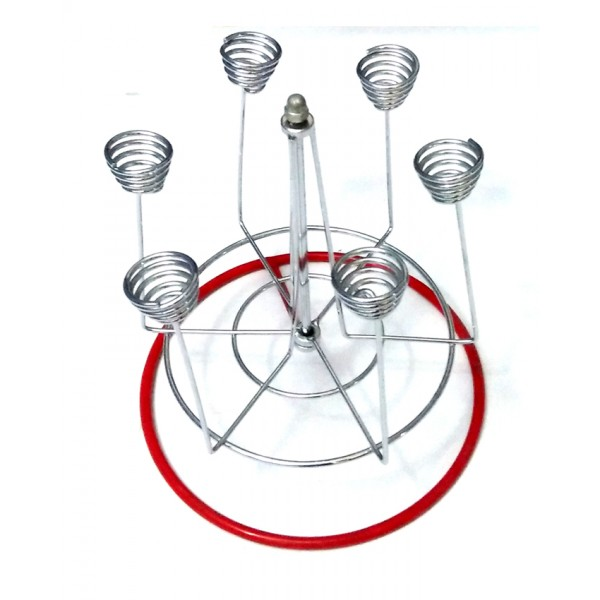 Stainless Steel Spiral Glass Stand