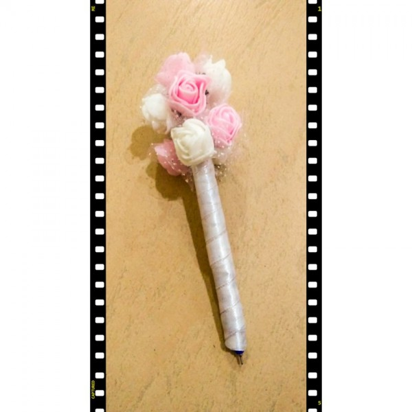 Pink Floral Nikah Pen
