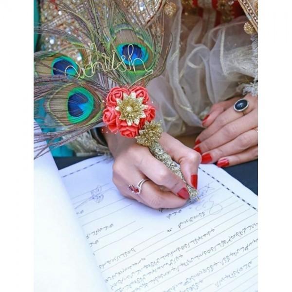 Customized nikkah pen