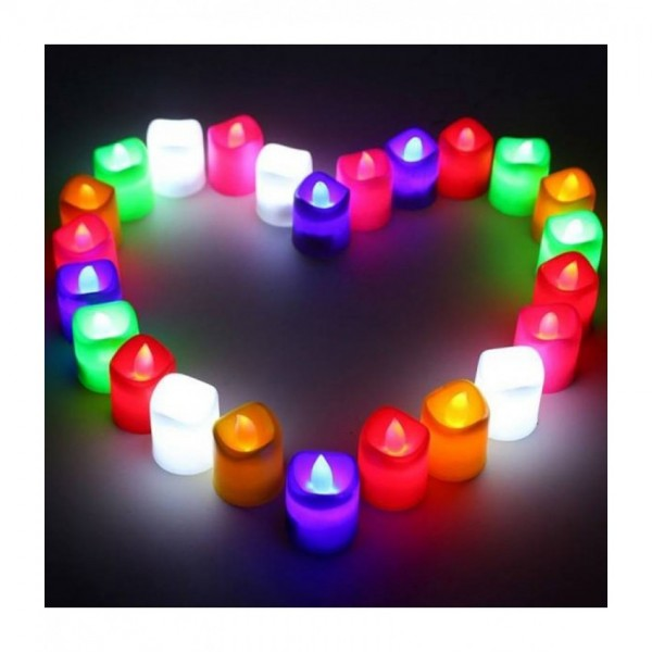 Multi LED Candles Pack of 24
