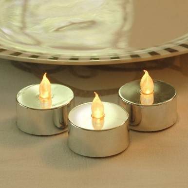 Pack of 3 Silver Candle