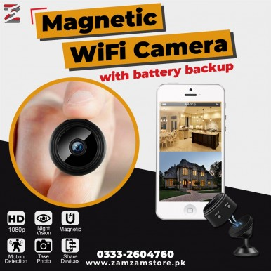Mini HD 1080P Wireless Hidden Camera, Home Wi-Fi Remote Security Cameras, Smart Motion Detection , Magnetic Feature, Night Vision Spy Camera