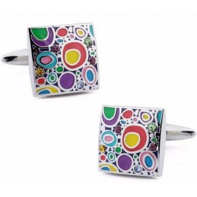 Cufflinks - Luxury Colorful Cufflinks, Best Gift For Men
