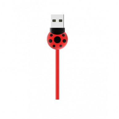 Beetle Micro USB Cable-Red Color- Micro USB Support