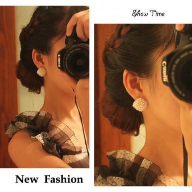 Gold Pearl Stud Earring Women Jewelry – AE46