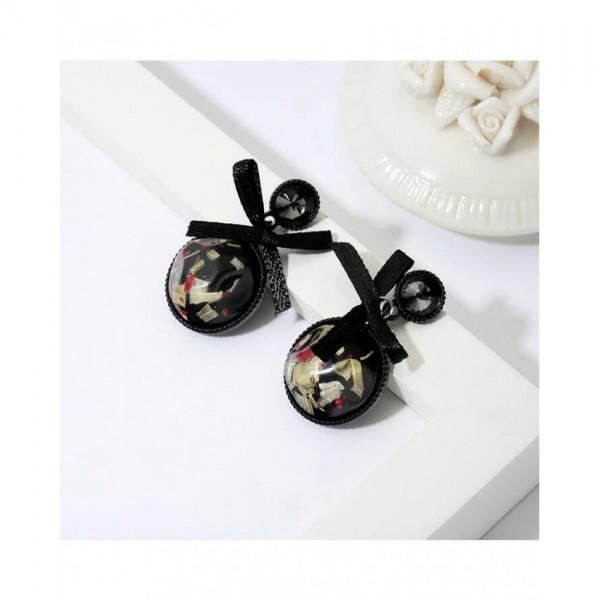 Black Bowknot Style Earrings – AE09