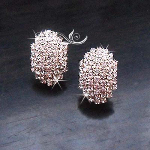 Gold Diamante Glowing Earring For Women – AE43