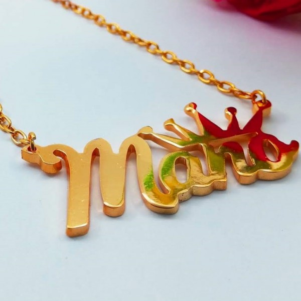 Premium Quality Necklace with Elegant crown Custom Necklace Custom Pendant