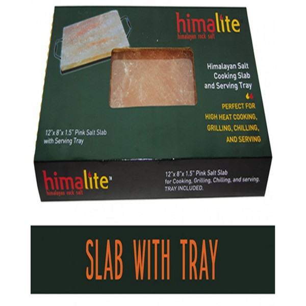 HIMALAYAN SALT COOKING SLAB WITH SERVING TRAY