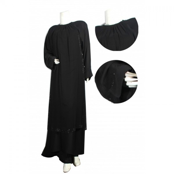 Ladies Abaya Chiffon Plus Nada fabric