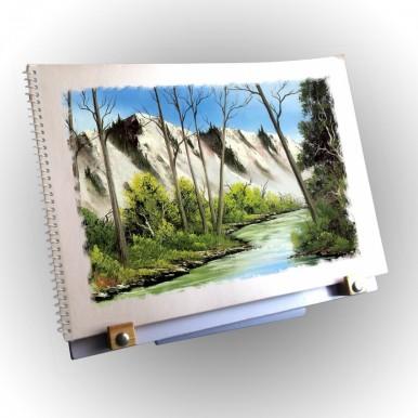 Fully Adjustable Desktop Easel for Art - Oil Painting Water Color Sketching