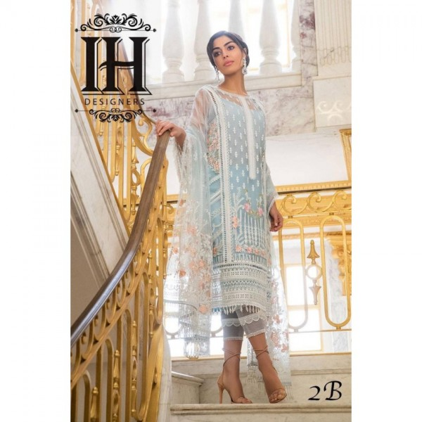 Luxury Net Embroidred Dress For Womens