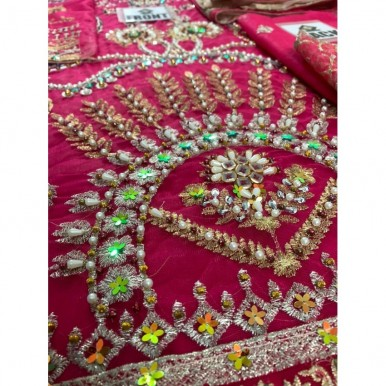 BEST EMBROIDERY AND HANDWORK DRESS FOR WOMEN IN PINK
