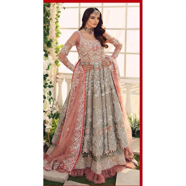 Beutiful embroidred Frock style for womens