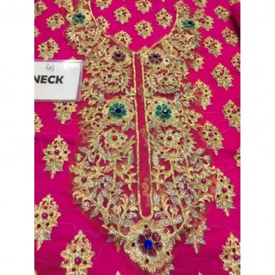 BRIDAL COLLECTION CHIFFON EMBROIDERED DRESS WITH NET DUPATTA