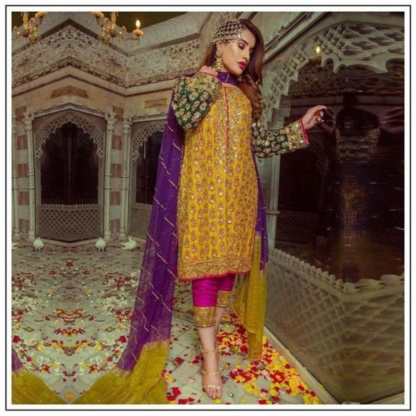 EMBROIDRED DRESS WEDDING  COLLECTION FOR WOMENS