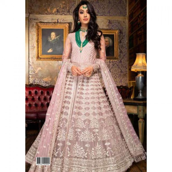 Heavy Net Embroidered Dress With Net Dupatta