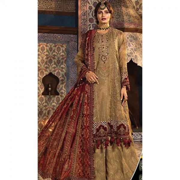 Heavy Embroidery Dress for Weddings