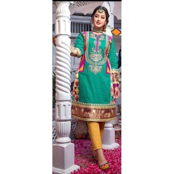 embroidered lawn suit for Her