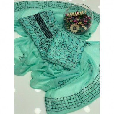 2 pcs Threadwork Embroidery party wear