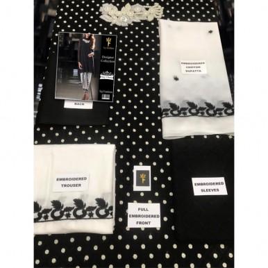 Polka dots Black and white dress for Girls