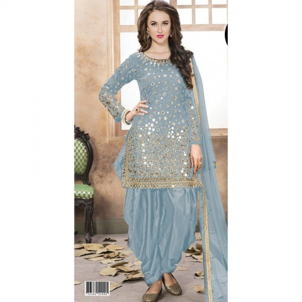 Indian mirror work collection Silk Dress for Her