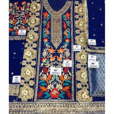 chiffon embroidery suit