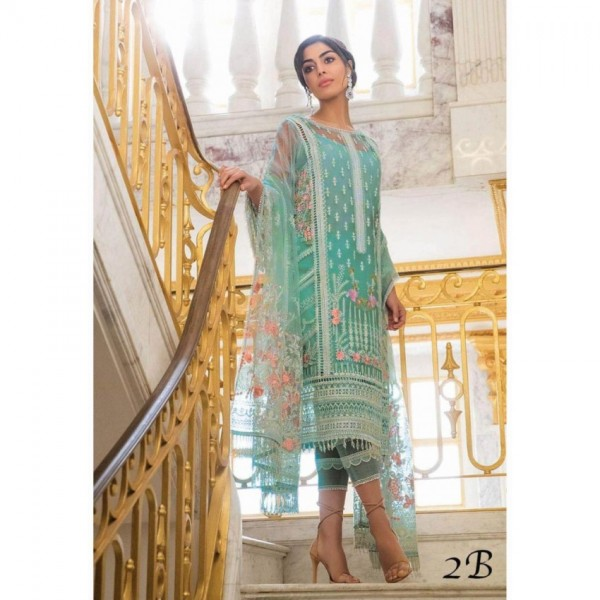 Beautiful Net Dress with Thread Embroidery
