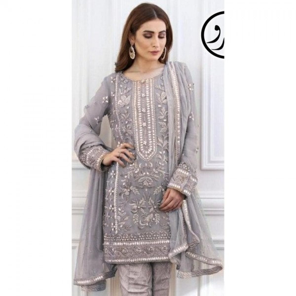 mysoori eid collection Grey colour dress for her