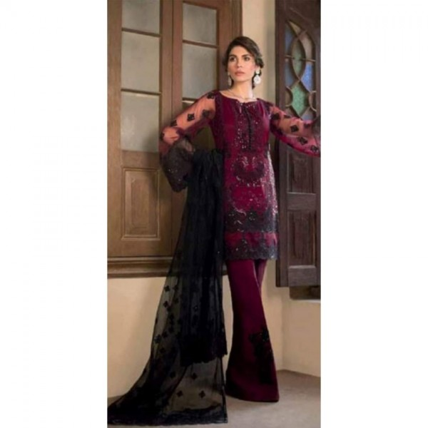 Sequence Embroidered Net Dress For Her