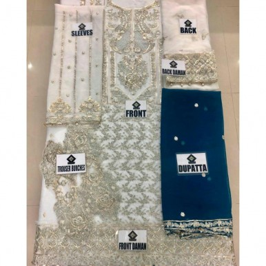 party wear collection in chiffon embroidery