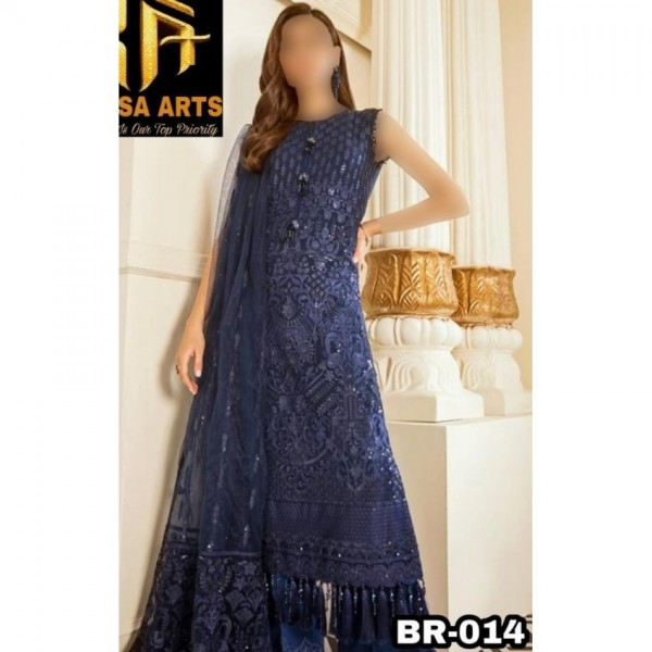 fully embroidered chiffon dress for Ladies