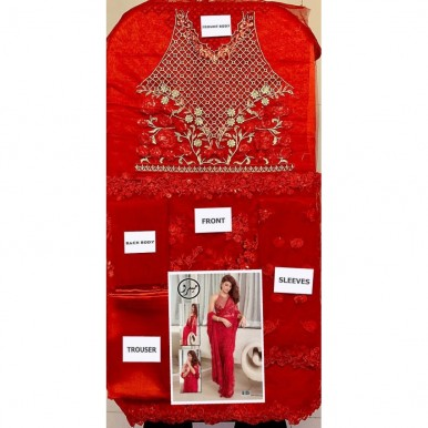 Red Color Indian net saree